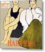 1897 - Harpers Magazine Poster - Color Metal Print