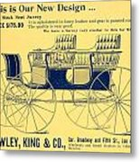 1898 - Hawley King And Company - Surrey Buggy Advertisement - Color Metal Print