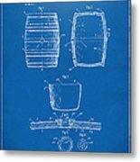 1898 Beer Keg Patent Artwork - Blueprint Metal Print