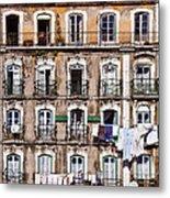 18th Century Building In Lisbon Metal Print