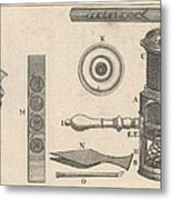 18th Century Microscope, Artwork Metal Print