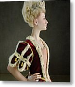 18th Century Queen Wearing Red Robe Metal Print