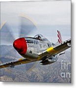 A P-51d Mustang In Flight Metal Print