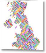 Great Britain Uk City Text Map Metal Print