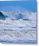 Hurricane Storm Waves Metal Print
