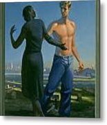 19. Jesus Appears To Mary / From The Passion Of Christ - A Gay Vision Metal Print