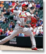 St Louis Cardinals V Colorado Rockies Metal Print