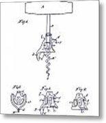 1900 Corkscrew Patent Blueprint Metal Print