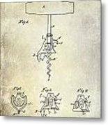 1900 Corkscrew Patent Drawing Metal Print