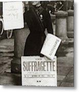 1900s British Suffragette Woman Metal Print