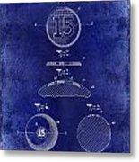 1902 Billiard Ball Patent Drawing Blue Metal Print