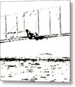 1902 Wright Brothers Glider Tests Metal Print