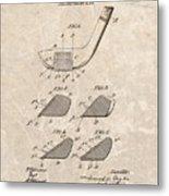 1903 Golf Club Patent Metal Print