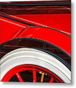 1903 Pope Hartford B Wheel Abstract Metal Print