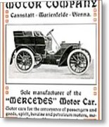 1904 - Daimler Motor Company Mercedes Advertisement - Color Metal Print