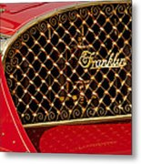 1904 Franklin Open Four Seater Grille Emblem Metal Print by Jill Reger