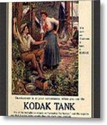1907 Vintage Kodak Tank Advertising Metal Print