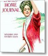 1909 - Ladies Home Journal Magazine Cover - November - Color Metal Print