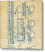 1909 Flute Patent - Vintage Metal Print