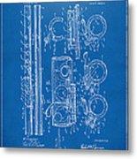 1909 Flute Patent - Blueprint Metal Print