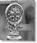 1909 Rolls-royce Silver Ghost Hood Ornament Metal Print
