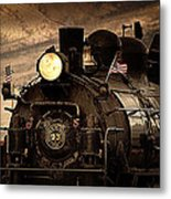 1909 Steam Engine 1909 Metal Print by Jeanne  Bencich-Nations