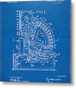 1910 Cash Register Patent Blueprint Metal Print