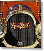 1910 Pope Hartford Model T Grille Emblem Metal Print