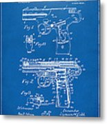 1911 Automatic Firearm Patent Artwork - Blueprint Metal Print