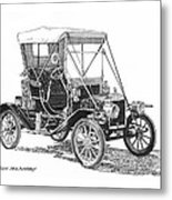 1911 Ford Model T Tin Lizzie Metal Print by Jack Pumphrey
