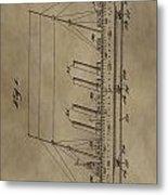 1911 Steamship Patent Metal Print