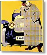 1912 - Audi Automobile Advertisement Poster - Ludwig Hohlwein - Color Metal Print