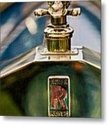 1912 Rolls-royce Silver Ghost Cann Roadster Skull Hood Ornament Metal Print