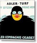 1913 - Adler Cigarette German Advertisement Poster - Color Metal Print