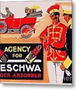 1913 - Geschwa Automobile Shock Absorber Adbertisement - Color Metal Print
