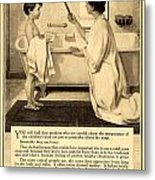 1913 - Proctor And Gamble - Ivory Soap Advertisement Metal Print