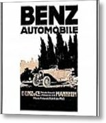 1914 - Benz Automobile Poster Advertisement - Color Metal Print