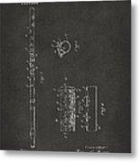 1914 Flute Patent - Gray Metal Print