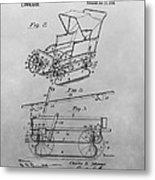 1914 Go Cart Patent Drawing Metal Print
