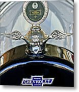 1915 Chevrolet Touring Hood Ornament Metal Print