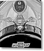 1915 Chevrolet Touring Hood Ornament - Moto Meter Metal Print