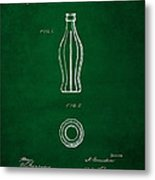 1915 Coca Cola Bottle Design Patent Art 4 Metal Print