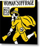 1915 Vote Yes On Woman's Suffrage Metal Print by Historic Image