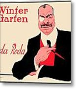 1918 - Wintergarten Poster - Roda Roda - Stephan Krotowski - Color Metal Print