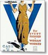 1918 - Ywca Patriotic Poster - World War One - Color Metal Print
