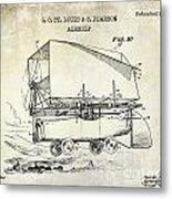 1919 Airship Patent Drawing Metal Print