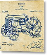 1919 Henry Ford Tractor Patent Vintage Metal Print