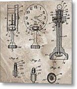 1920 Clock Patent Metal Print