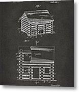 1920 Lincoln Logs Patent Artwork - Gray Metal Print