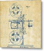 1920 Motion Picture Machine Patent Vintage Metal Print